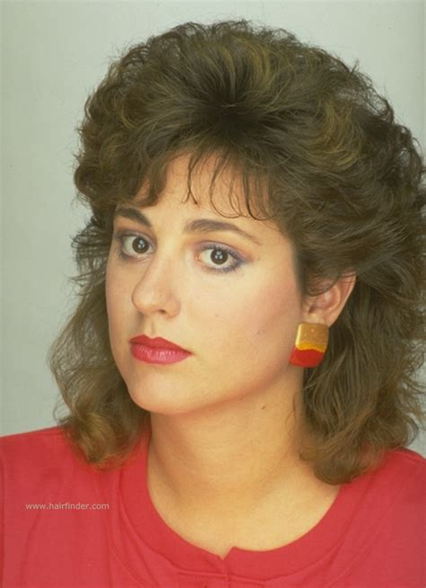 1980 shag haircut how medium length permed hair with shorter crown areas for pouf