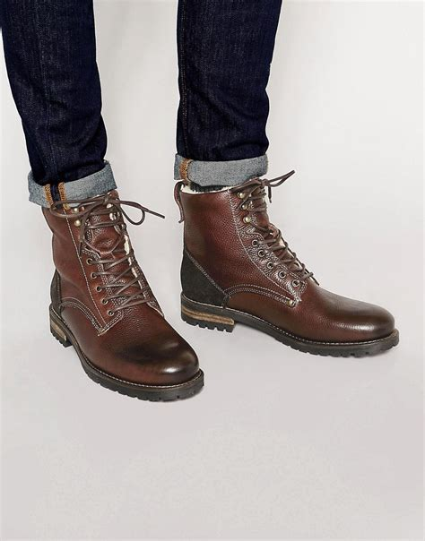 image 1 of aldo busca leather boots