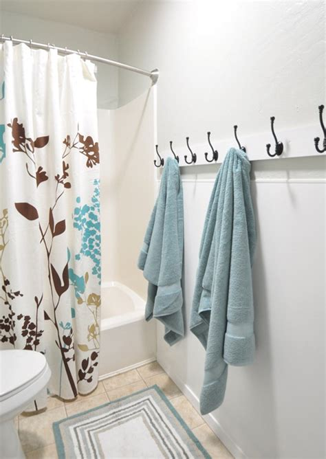 towel hooks for kids bathroom hooks for a kids bathroom instead of a towel bar makes it