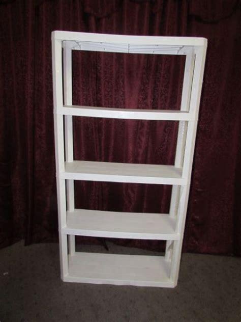 white plastic storage shelves lot detail white plastic shelving unit