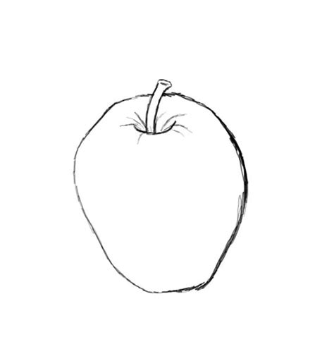 sketch by mac how to draw an apple