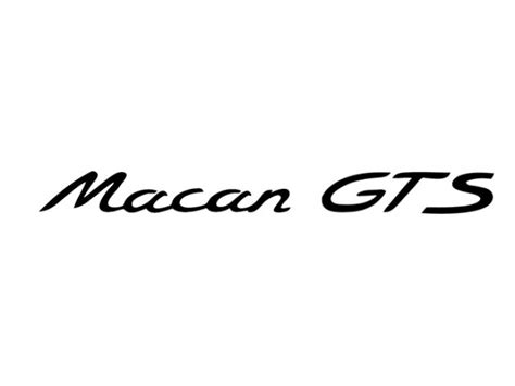 Logo Macan sale macan gts style decals stickers 10