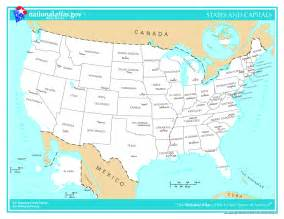 Usa Map And Capitals by Usa Map With States And Capitals