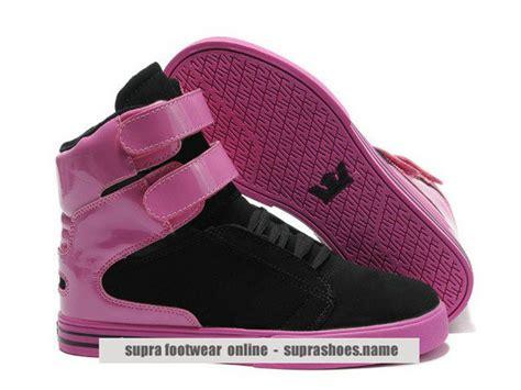 womens supra tk society pink black shoes