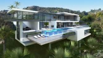 Modern Mansions by Two Modern Day Mansions On Sunset Plaza Drive In La