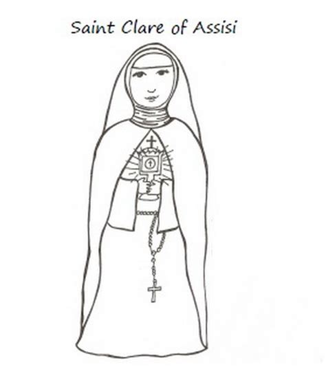 Catholic Saints And All Saint S Day Coloring Pages St Coloring Page Catholic