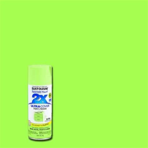 rust oleum painter s touch 2x 12 oz satin green apple general purpose spray paint of 6