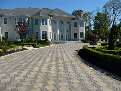 front yard pavers custom front yard landscaping and driveway pavers plain