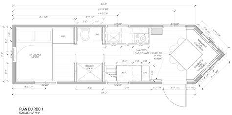 plan comptoir tiny house tiny house lumbec