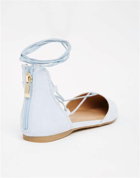 light blue flat shoes call it spring cinnabar light blue lace up ghillie flat