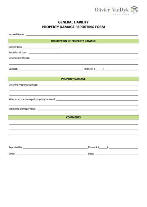 property damage release form template property damage release form new top property damage