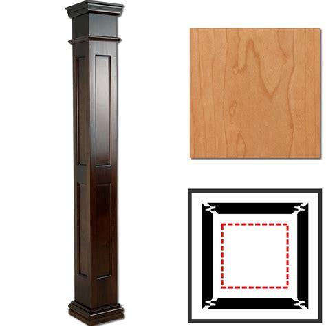 interior columns cherry wooden columns square recessed panel