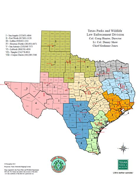 regional map of texas staff directory texas parks wildlife department