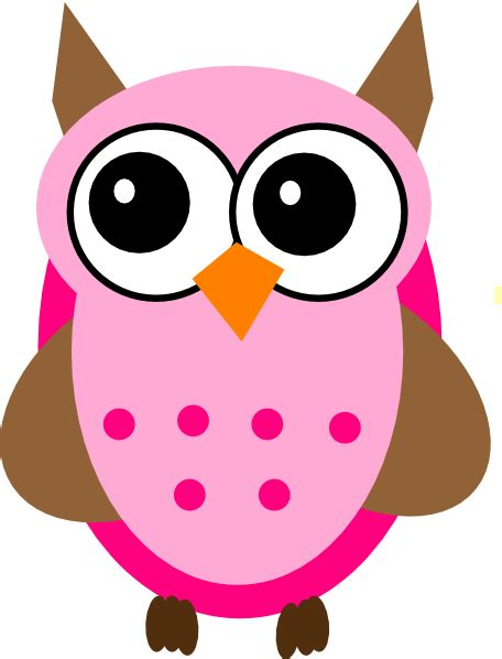 owl clipart pink brown owl clip at clker vector clip