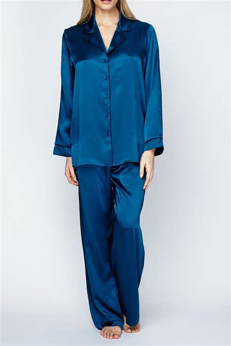 Silk Pajamas by Christine Of Vancouver Classic Silk Pajamas From Canada By
