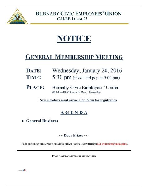 notice of meeting template meeting notice sles 3dienas tk