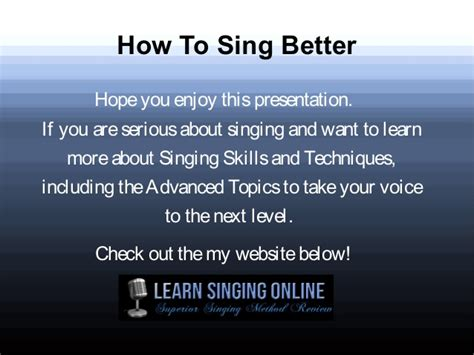how to get to a better how to sing better