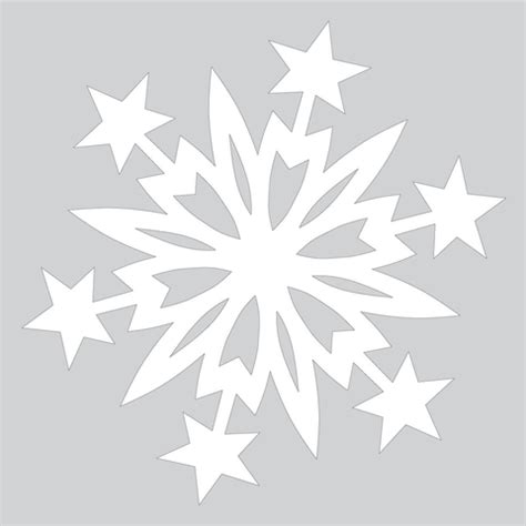 Paper Snowflake Craft - paper snowflake pattern with cut out