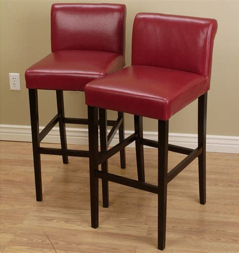 Cosmopolitan Leather Counter Stools by Cosmopolitan Burnt Leather Counter Stools Set Of 2