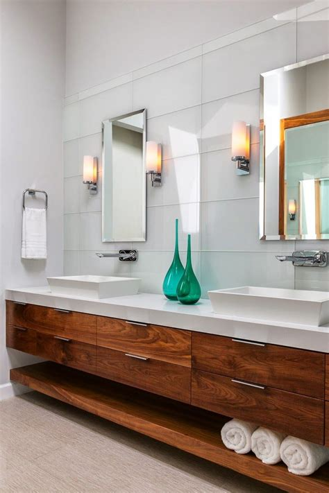 modern wood bathroom vanity best 25 floating bathroom vanities ideas on pinterest