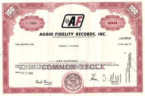 Records Ny Audio Fidelity Records Inc Made Stereo Two Channel Records New York