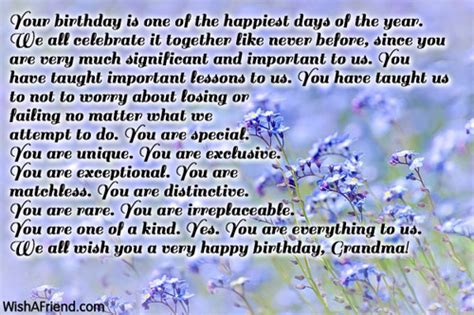 Birthday Quotes For Grandparents Birthday Wishes For Grandmother