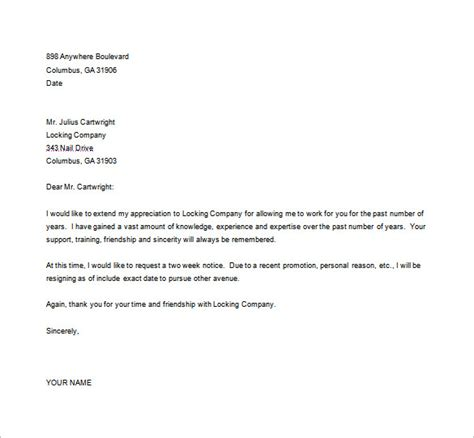 Resignation Letter Exle Microsoft Word Resignation Letter Templates 26 Free Word Excel Pdf Documents Free Premium