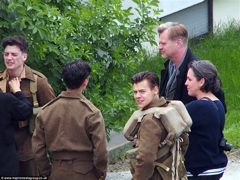 letest cating stayl harry styles shows off his new 1940s style military cut on