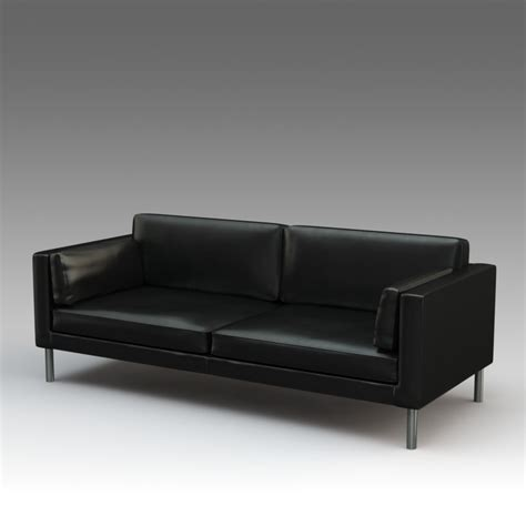 Sater Leather Sofa by 3d Model Leather Sofa