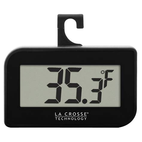 small digital la crosse technology small black digital thermometer with
