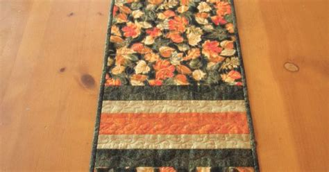 Quilted Table Runners For Sale by Fall Leaves Quilted Table Runner By Patchworkmountain