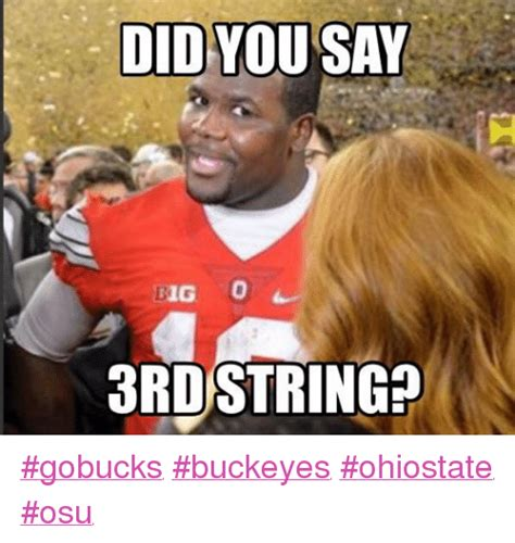 Funny Ohio State Memes - did you say dig 3rdstring gobucks buckeyes