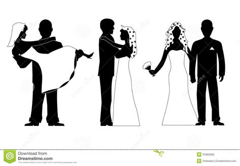 eps format wedding clip art wedding silhouette set vector stock photo image 31893260