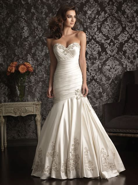 mermaid wedding dresses with sweetheart neckline and