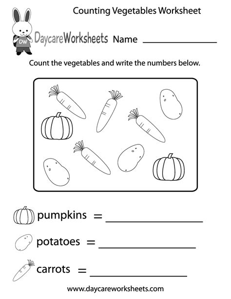 worksheets for preschoolers on fruits and vegetables free counting vegetables worksheet for preschool