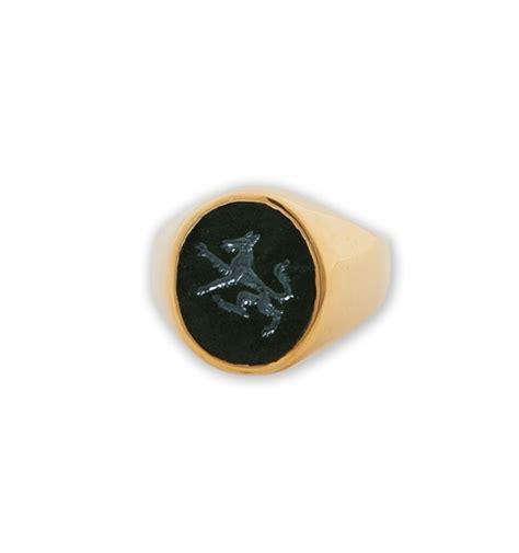 black onyx wolf ring engraved black onyx regnas jewelry
