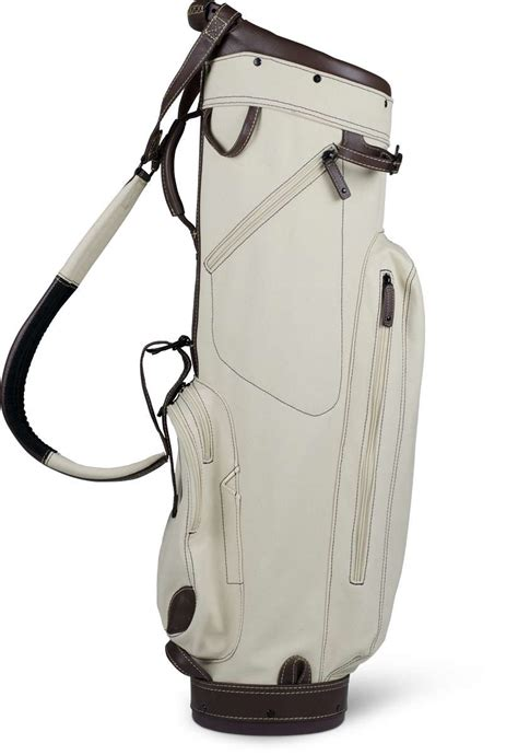 Golf Standbag Golf Perry Gear Canvas canvas leather cart bag leather series