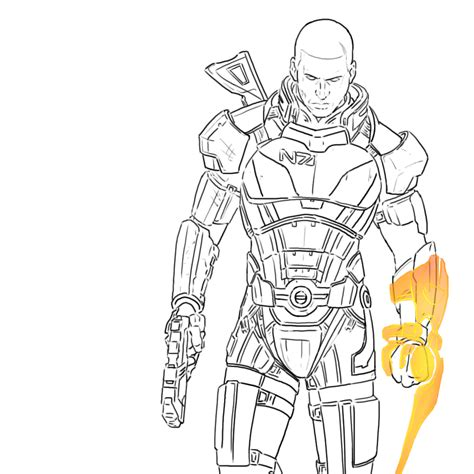 coloring book effect mass effect 3 outlines by herpderp187 on deviantart
