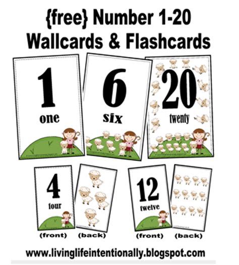 printable numbers cards 1 20 8 best images of 1 20 printable number flash cards free