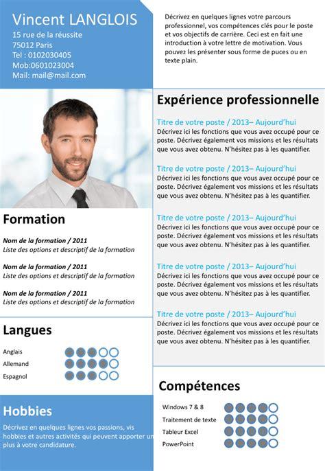 modele cv open office gratuit document