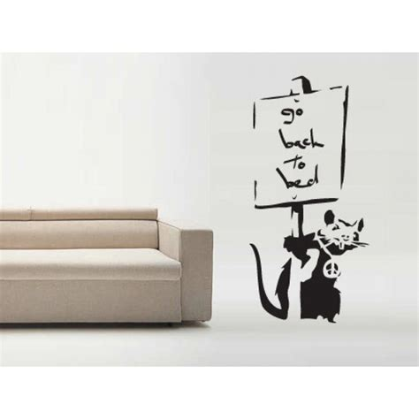 banksy wall stickers uk go to bed rat banksy wall sticker wall stickers
