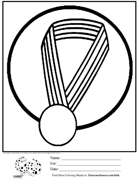 olympic coloring page gold medal kids activities