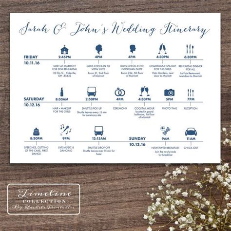 Wedding Weekend Timeline Template by 25 Best Ideas About Wedding Weekend Itinerary On