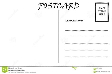 10 best images of free downloadable postcard templates