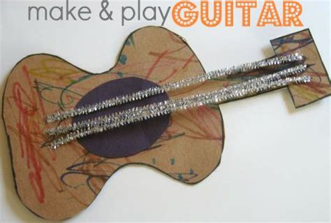 Paper Guitar Craft - guitar craft for cowboy poems