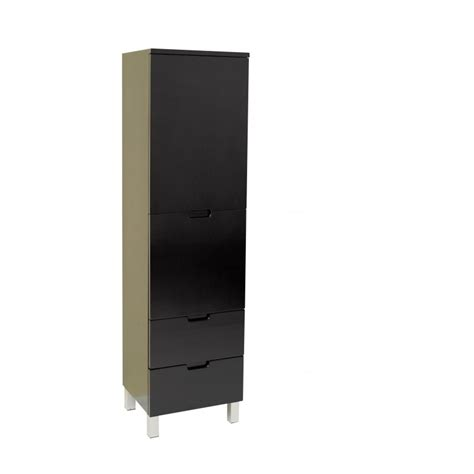 fresca espresso bathroom linen side cabinet w 4 storage