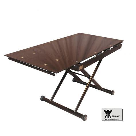 tavolo saliscendi tavolino saliscendi allungabile nero mod della