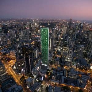 storeys  green glass  metallic fins victoria  tower  elenberg fraser video