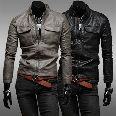 Jaket Zipper 2 Total Di Kandang Bali United Bernyali fashion leather jackets pocket europe and america style mens leather jacket chaqueta