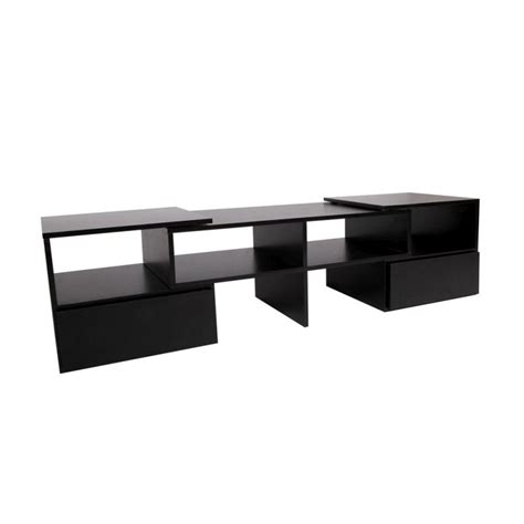 Black Tv Unit With Drawers by Adjustable Entertainment Unit W Drawer Black 175cm Buy
